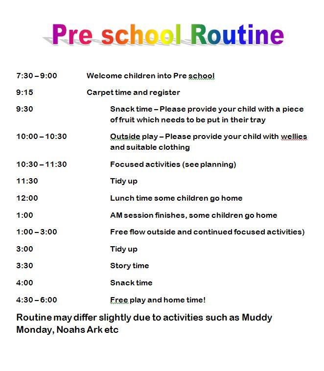 LBP Pre School Routine v1.1
